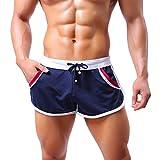 MIOIM® Herren Sporthose kurz Sport Shorts Jogginghose Laufhose Fitness Freizeit Trainingshose Gym Hose Sommer Athletische Workout Pants Sportwear, XL, blau