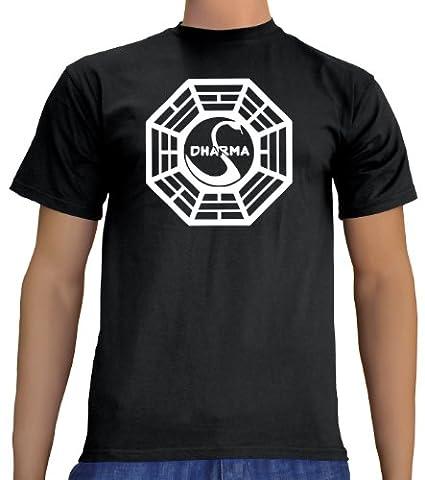 Touchlines Lost Dharma Logo T-Shirt, Black, Größe: XXXL (Fun Halloween-kostüme Für Arbeit)