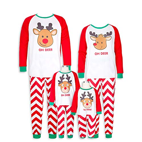 Familie passende Weihnachten Pyjamas Elch Urlaub Baumwolle Schlafanzug Set Kinder Nachtwäsche Sets Kids 100cm