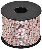 Corderie Italiane 006004325 Cordino Nylon su Rocchetto, Bianco/Rosso, 1.8 mm, 100 m