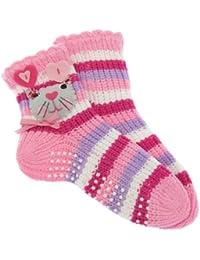 Chaussettes-chaussons antidérapantes (1 paire) - Fille