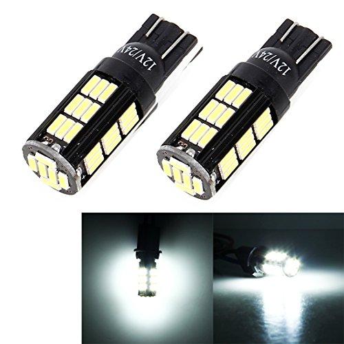 Éclairage 12V-24V de CC, 2 PCS T10 / W5W / 194/501 décodant le marqueur léger d'écart de voiture de 2,5W 180LM 6000K avec 4014 42-SMD LED L'éclairage pour vous