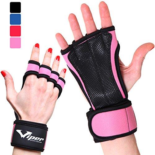 Trainingshandschuhe - Crossfit Fitness Handschuhe mit Anti-Schweiß Design & Überlegener Handgelenkunterstützung, für Herren und Damen. Perfekt für Fitnessstudio, Gewichtheben, Calisthenics, Pull-Ups. Gesunde Hände = Längere Workouts (Rosa, S)