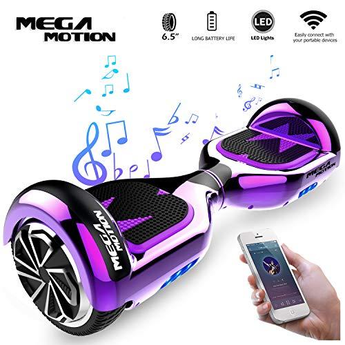 "Mega Motion Elektro Scooter E1-6,5\"" Segway - Bluetooth - EU Sicherheitstandard (Chrome Purple)"