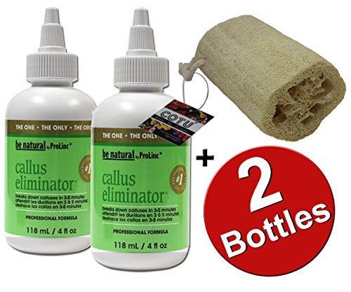 COTU+%C2%AE 2 X Pro Linc Callus Eliminator 4oz + Cotu Super Savings 1 Pcs Of Natural Loofahs Exfoliating Bath Sponge (5 Inch In Length)