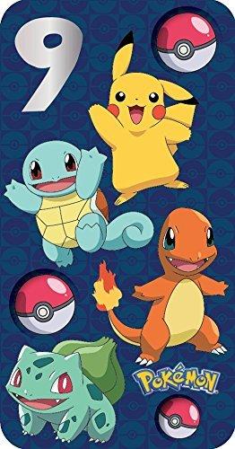 Pokemon-Karte, zum 9. Geburtstag.