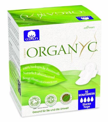 Organyc - Compresas noche alas - 100% Algodón Biológico