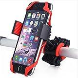 Hippolo Handyhalterung Fahrrad Fahrradhalterung Handyhalterung Motorrad Halter 3facher Sicherheitschutz für Smartphones und GPS (Rot)