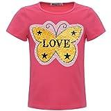 BEZLIT Mädchen Wende-Pailetten T-Shirt Kunst-Perlen Oberteil 22545, Farbe:Pink, Größe:116