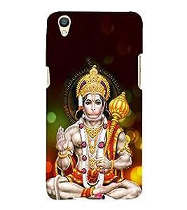 FUSON Lod Hanuman Giving Blessings 3D Hard Polycarbonate Designer Back Case Cover for Oppo F1 Plus :: Oppo R9