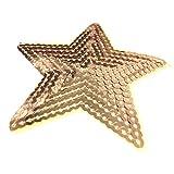 (5 Stück) 5 Sterne geformt Paillette Gestickte Applikationen nähen oder bügeln auf Patches Gold