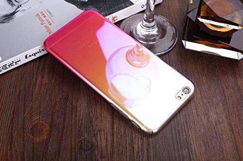 iPhone 7 Plus Hülle,ikasus® Hard Hart Hülle Schutz Handy Hülle Case Tasche Etui Bumper Crystal Case Hülle für Apple iPhone 7 Plus (5,5 Zoll) Verlauf Farbe Mirror Weich Hard Bumper Hart Hülle Stoßdämpf Rot
