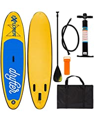Explorer Sup Drifter 290 x 75 x 10 cm Inflatable ISUP hinchable de aluminio Remo Stand Up Paddle Board Set Bomba Tabla de Surf Aqua Remo Set