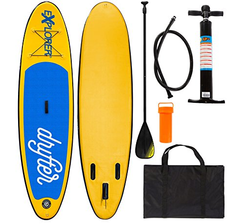 EXPLORER SUP DRIFTER 290 x 75 x 10 cm Inflatable Isup aufblasbar Alu-Paddel Stand Up Paddle Board Set Pumpe Surfboard Aqua Paddelset