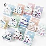 JSGDJD Klebeband 12 pcs/packTravel und Leben Washi Tape Klebeband DIY Scrapbooking Sticker Label Maskierung Handwerk Band - 12 Stk/Pack