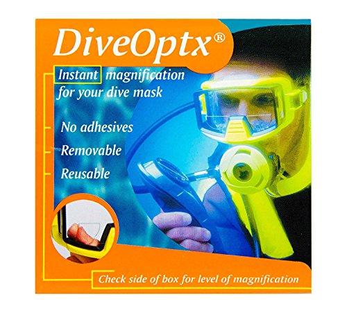 Taucher oder Schwimmer kleben die Leselinsen mit vergrößernder Wirkung auf Tauchmasken, Skibrillen, Schwimmbrillen oder Sonnenbrillen, Clear Bifocal Lens, 2.00