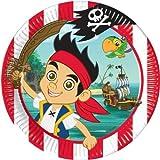 Generique - 8 Pappteller - Jake und die Nimmerland Piraten