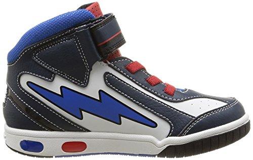 Geox - Jr Gregg C, Sneaker alte Bambino Blu (Navy/White)