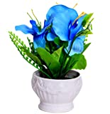 #7: Purpledip Flower Vase with Artificial Flowers for Table Top (10655)