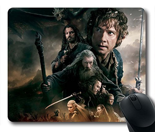 Gaming Mouse Pad, The Hobbit The Battle Of The Five Armies Personalized MousePads Natural Eco Rubber Durable Design Computer Desk Stationery Accessories Gifts For Mouse Pads