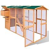 Anself Hühnerstall Hühnerhaus mit Eierbox und Freilauf