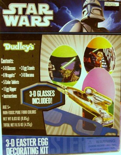 Star wars - kit per decorazione uovo di pasqua 3d