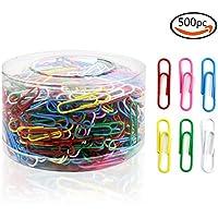 Goodlucky365 500pcs Multicolores Clips de Papel de Oficina,33mm