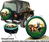 Bezug Reserverad Abdeckung Wildmotiv mit Wildschwein und Reh für Jagd - Fans für Ihren Jeep