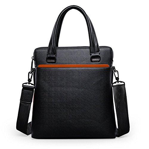 ZGJQ Leder Männer Tasche Mode Umhängetasche Diagonal Computer Tasche Business Tasche Handgelenk Tasche,Black-OneSize (Wickeln Leiste)