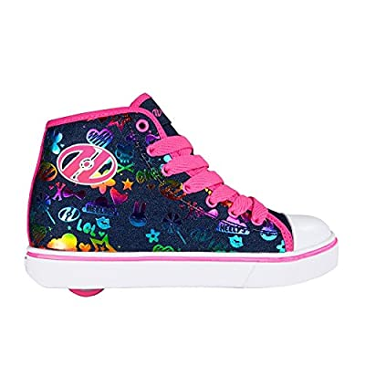 Heelys Veloz Dark Denim/Rainbow Kids Heely Shoe