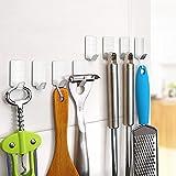 Vanten 8ST Edelstahl Haken Küchenhaken Besteckhalter Kleiderhaken Handtuchhaken selbstklebend Ohne Bohren