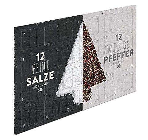 Großer XL Salz und Pfeffer Gourmet Adventskalender - mit 24 Salzen/Pfeffer aus aller Welt (Kochen Ideen Für Weihnachtsfeier)