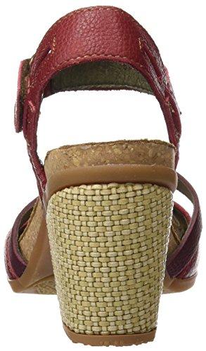 El Naturalista N5032 Soft Grain Mola, Escarpins à Bout Fermé Femme Rouge (Tibet)
