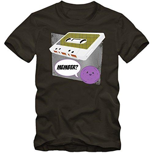 Audiokasette T-Shirt | Herren | Tape | MC | Oldschool | Vintage | Audio-Kassette | Memberberry , Farbe:Army (Army L190);Größe:XL