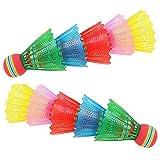 MZY1188 10 Pezzi volano da Badminton, Badminton Eva Rainbow Ball Head Piume da Badminton in Nylon per Interni, Esterni, Sport, Allenamento, Esercizio, Divertimento, Giochi