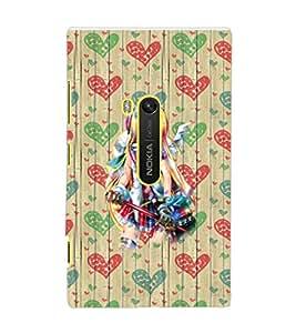 PrintDhaba Fantasy Girl D-5740 Back Case Cover for NOKIA LUMIA 920 (Multi-Coloured)