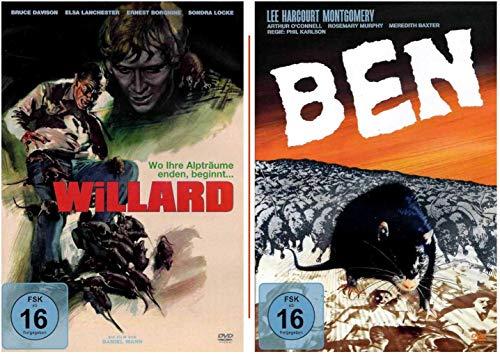 Willard und Ben - Das Tier-Horror-Set - Teil 1 und 2 - Ratten-Sammlung [2 DVDs]