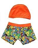 Moollyfox Conjunto Infantil de Traje de Baño con Gorro de Baño para Niños Naranja XL