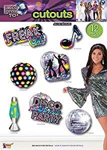 Forum Novelties X77970 - Disfraz de discoteca, multicolor, talla única