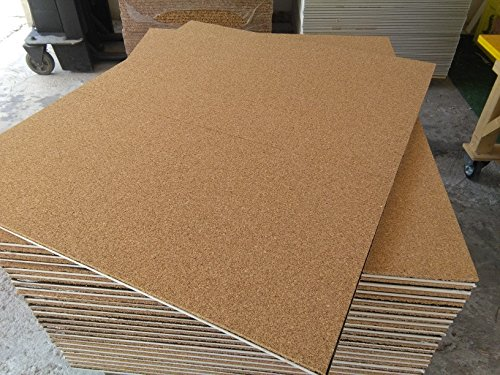 FUTURAZeta - 5 Pannelli mq. 6,00 Sughero+cartongesso 120 x 100 x 3 cm....