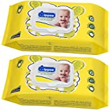 Wippee 80N With LID Baby Wipes With Almond Oil ( Pack Of 2)