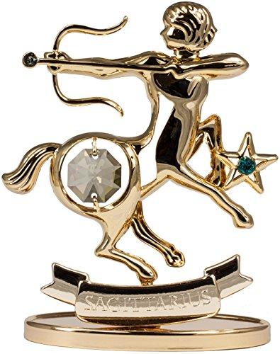 Sternzeichen Schütze Figur mit Kristallen goldfarben MADE WITH SWAROVSKI ELEMENTS