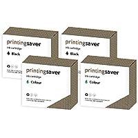 Printing Saver HP 56 & HP 57 NERO (2) COLORE (2) cartucce di inchiostro per HP Deskjet 450cbi, 450ci, 450wbt, 5145, 5150, 5151, 5160, 5168, 5500, 5550, 5552, 5600, 5650, 5650v, 5650w, 5652, 5655, 5850, 9600, 9650, 9670, Digital Copier 410, Officejet 2110, 4110, 4200, 4212, 4215, 4219, 4252, 4255, 5160, 5500, 5505, 5510, 6110, 6127, 6150 stampanti - Sostituzione Compatibile