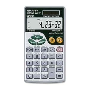 Sharp EL344RB calculator - calculators (Pocket, Scientific calculator, Silver, Metal, Solar, 69 x 119 x 7.1 mm)