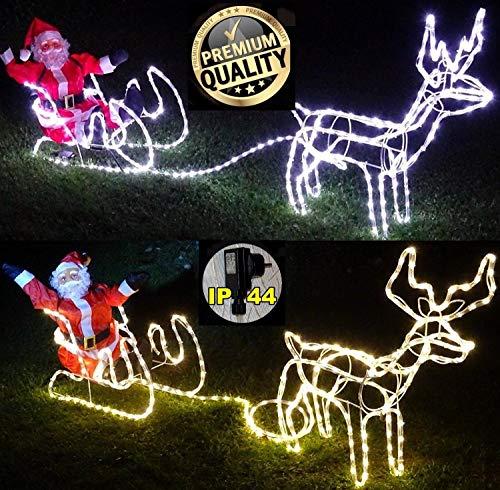 LED-Schlitten mit Weihnachtsmann