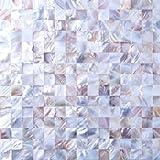 304mm x 304mm Matte Echte Natur Perlmutt Muschel Mosaik Fliesen Blatt (MT0160)
