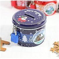 Abenily Münzen-Spardose-Geschenkbox Weihnachten Sparschwein Zylinder Weißblech Aufbewahrungsbox (Blau) preisvergleich bei kinderzimmerdekopreise.eu