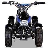 Miniquad Kinder ATV Cobra blau / schwarz - 6
