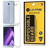 Dmg Fiber Screen Guard, Ikare Impossible Fiber Front And Back Tempered Glass Screen Protector For Samsung Galaxy A7