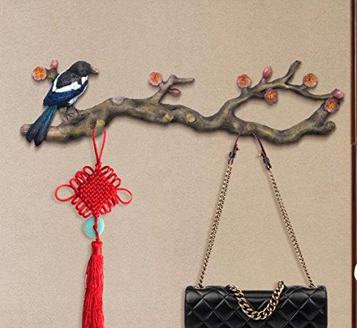 SMACO Dekorative Vogel Haken Tür Kleiderbügel An Der Wand Vintage Wand Eingang Mantel Haken (Kleiderbügel Dekorative Tür)